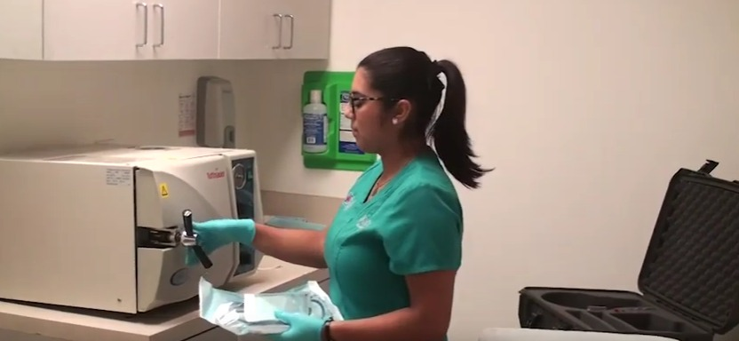 Autoclaving the Dr.UGraft hand piece and punch using appropriate sized sterilization bags for the first time.